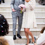 結婚式のカップル、幸せ、男女
