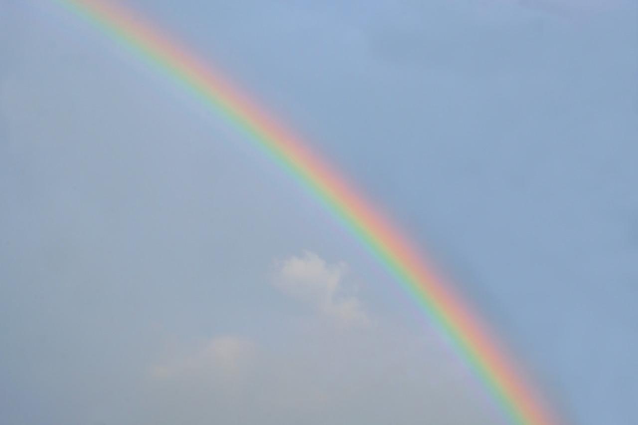 虹のある日